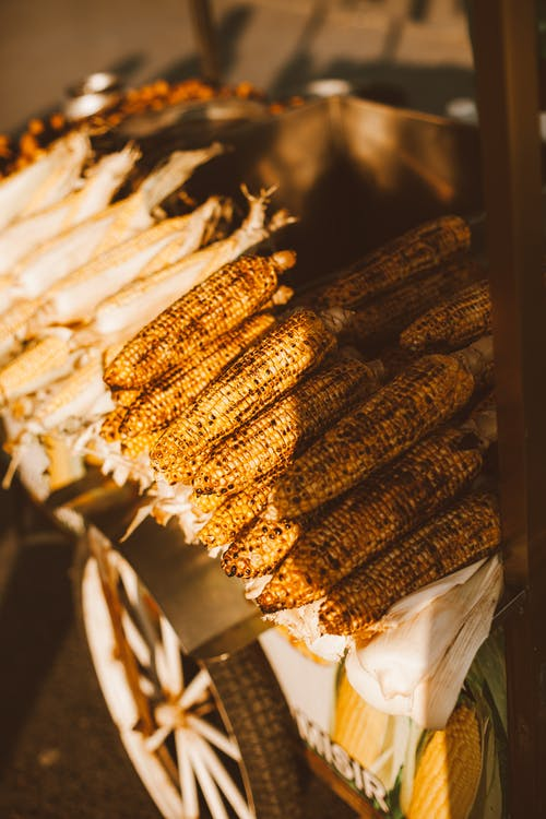 Stack of Grilled Corns on Cob