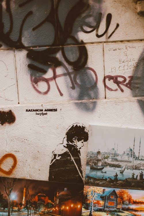 Základová fotografie zdarma na téma bílá, fotky, graffiti