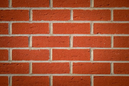 Red Brick Wall with Scratches