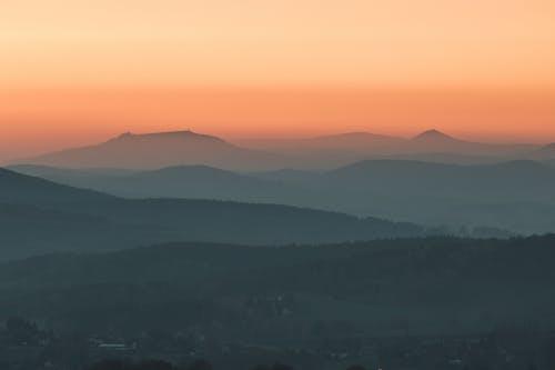 Free stock photo of beautiful sky, blue mountains