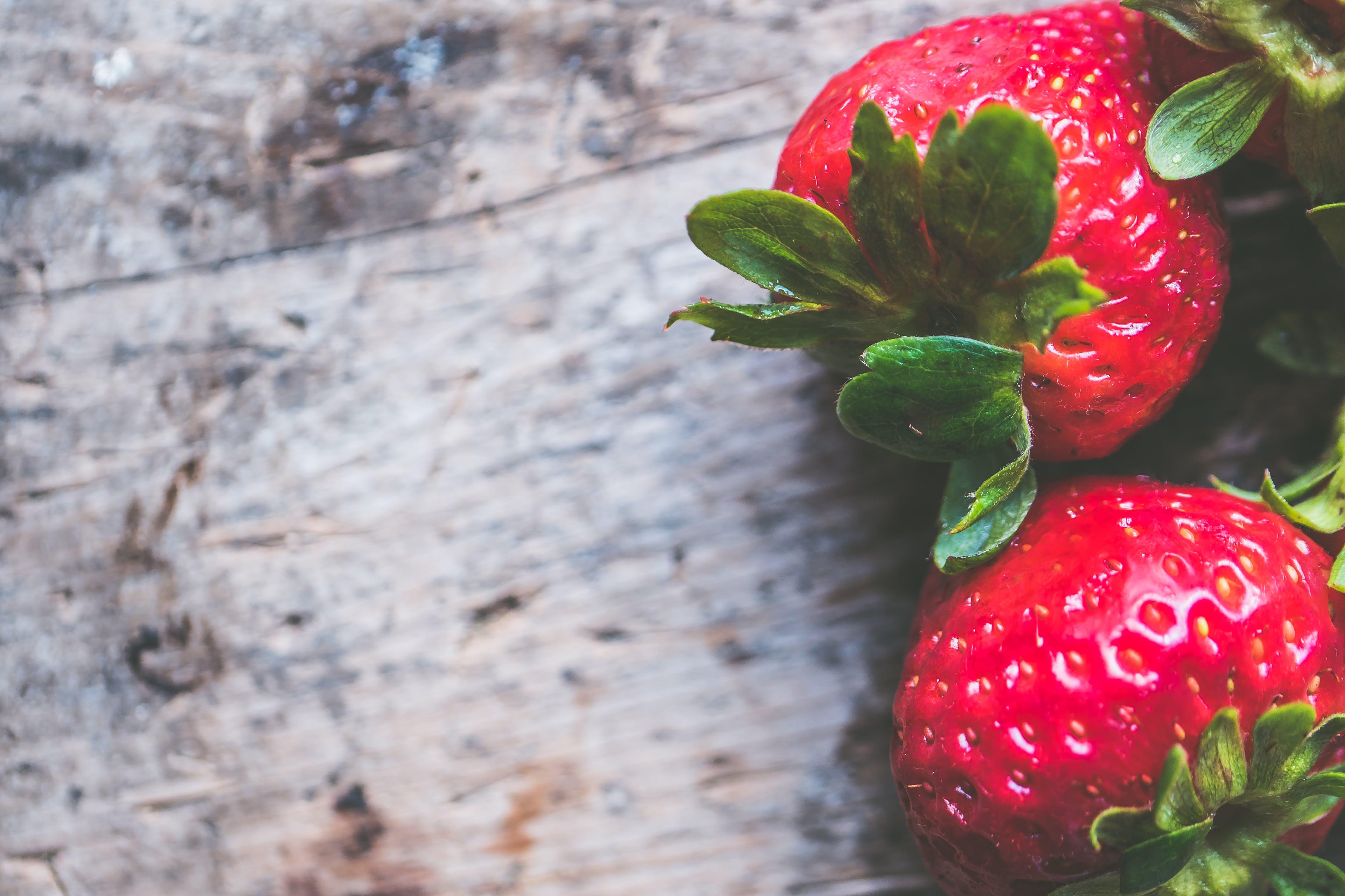 Kostenloses Stock Foto zu erdbeeren, essen, frucht, hintergrund