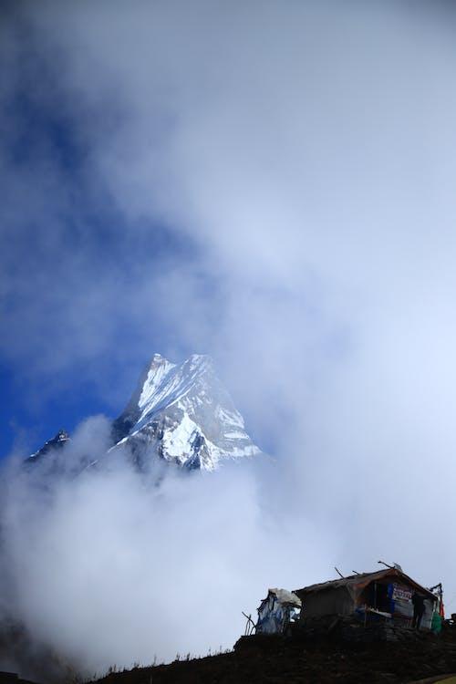 Free stock photo of foggy mountain, mountain