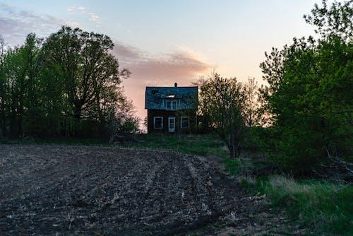 Free stock photo of abandoned house, dawn, dusk