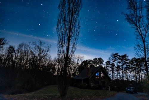 Free stock photo of cabin night sky, night sky, starry night