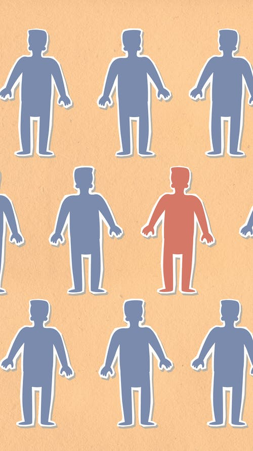 Cutouts Of Human In Brown Background