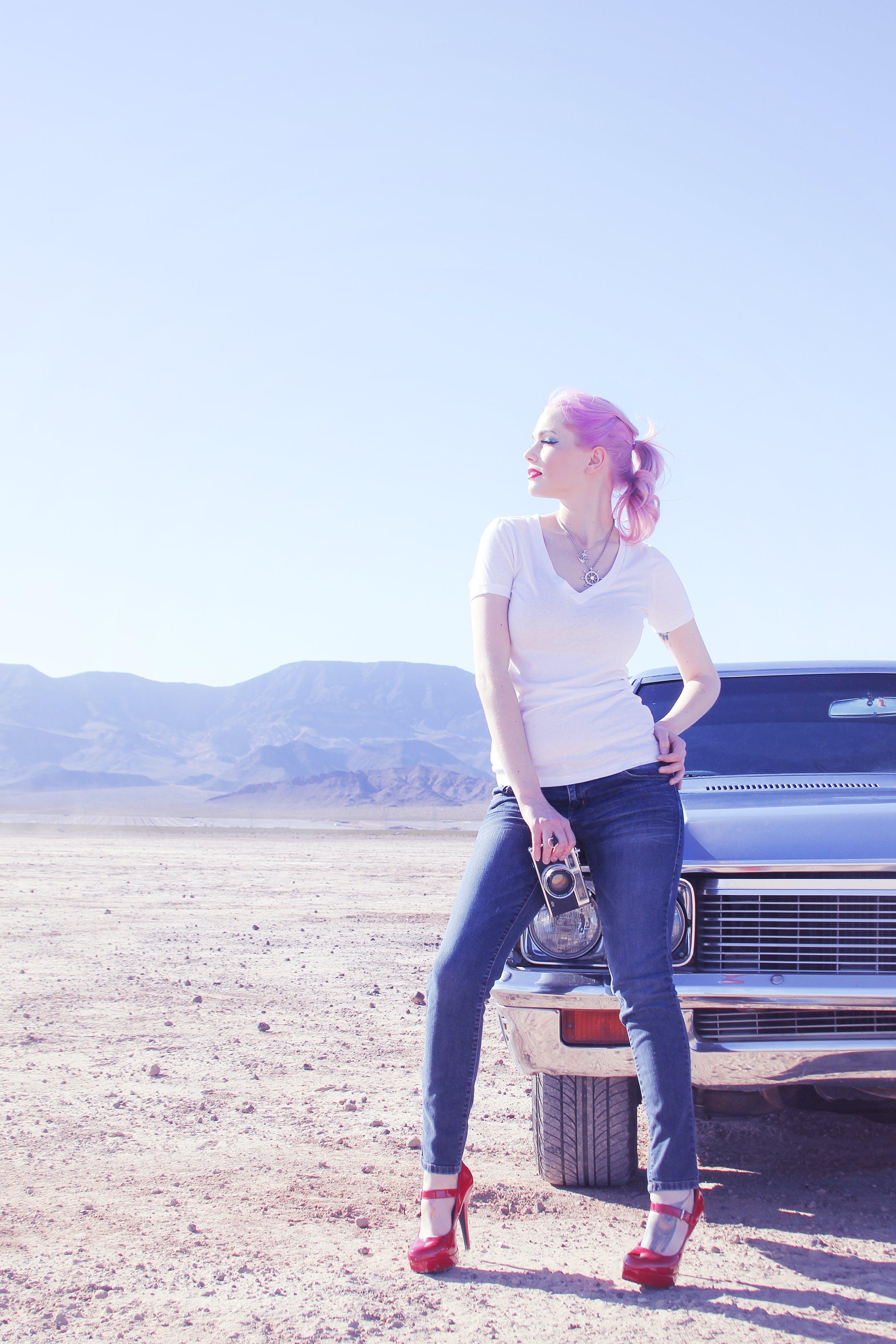 camera, car, desert