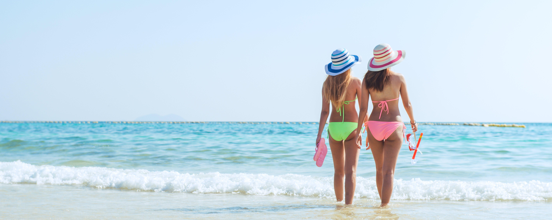 zu badeanzug, bikini, ferien, frauen