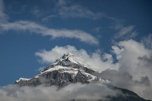 Low Angle Photography of Mount Everest Under Blue Sky