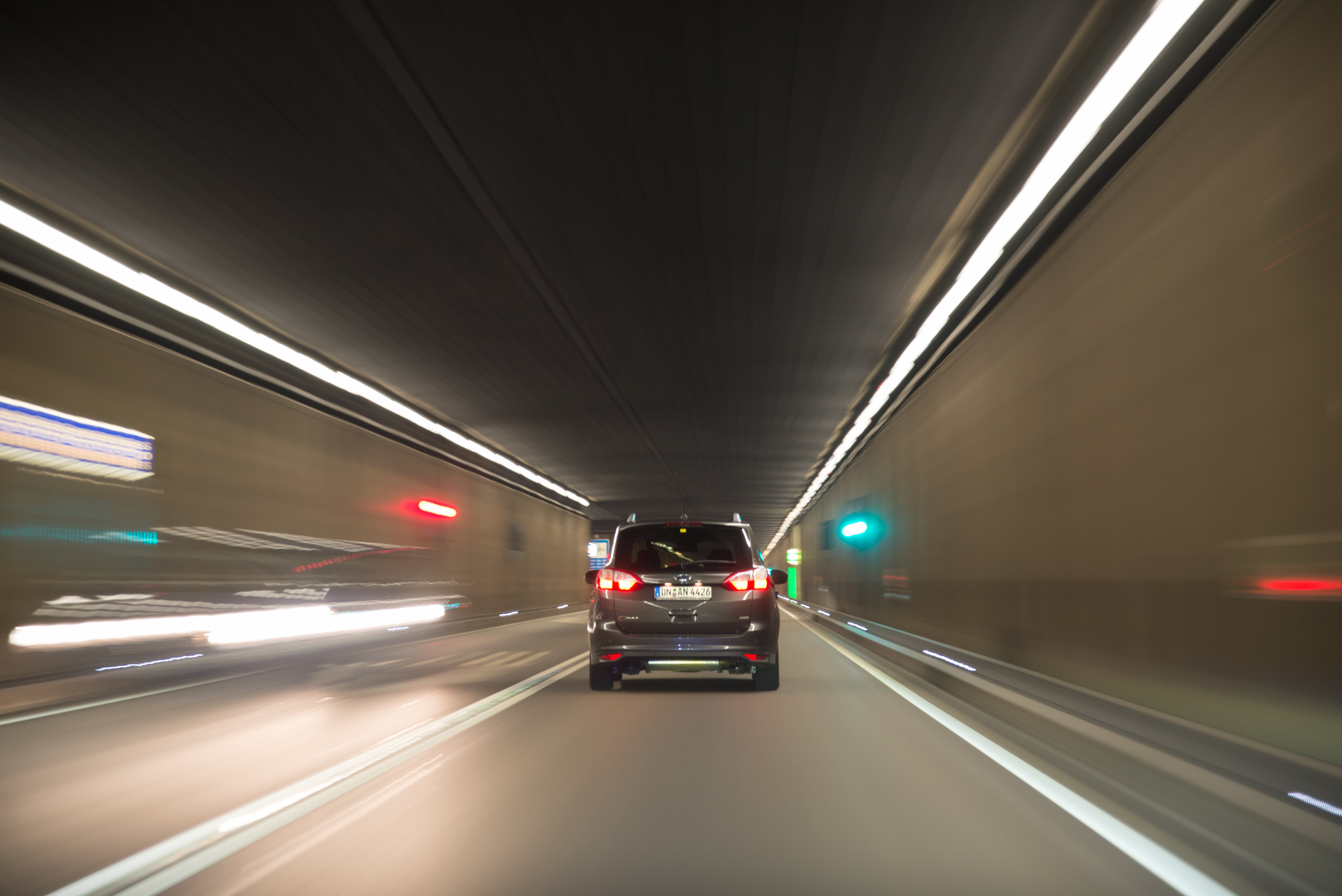 Free stock photo of road, lights, car, tunnel