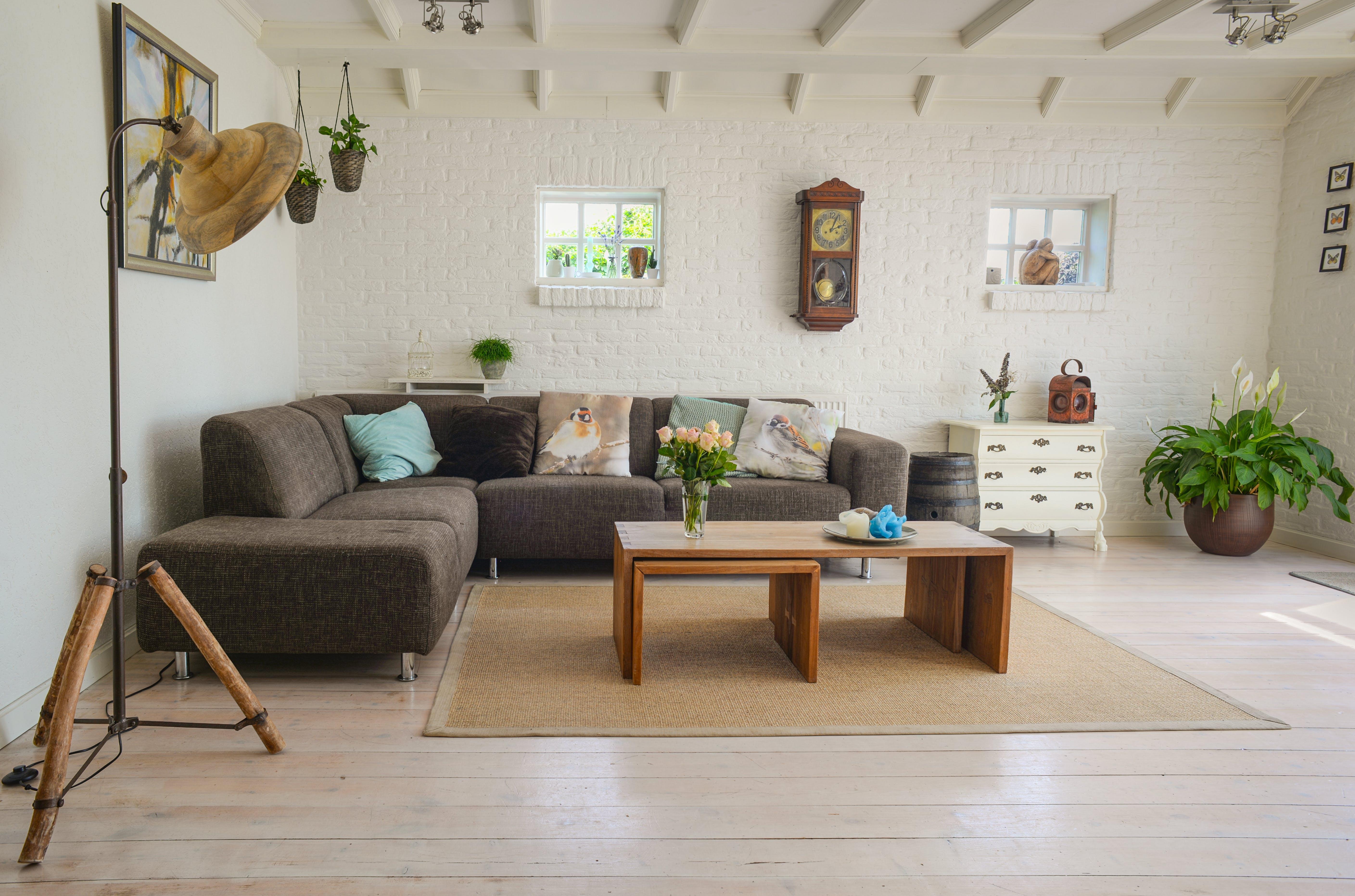 sofa, table, living room