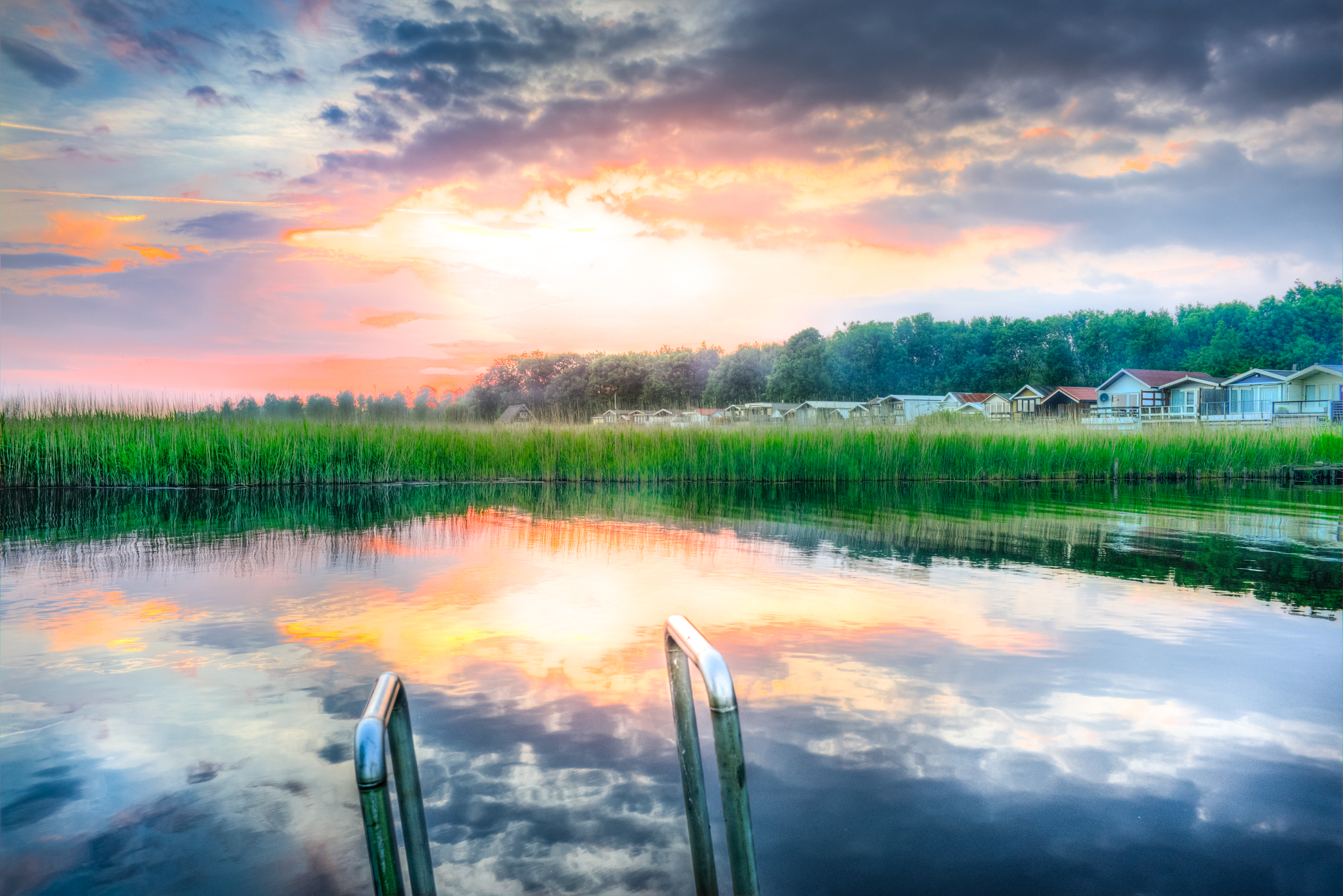 Panoramic Photography of Lake during Sunset