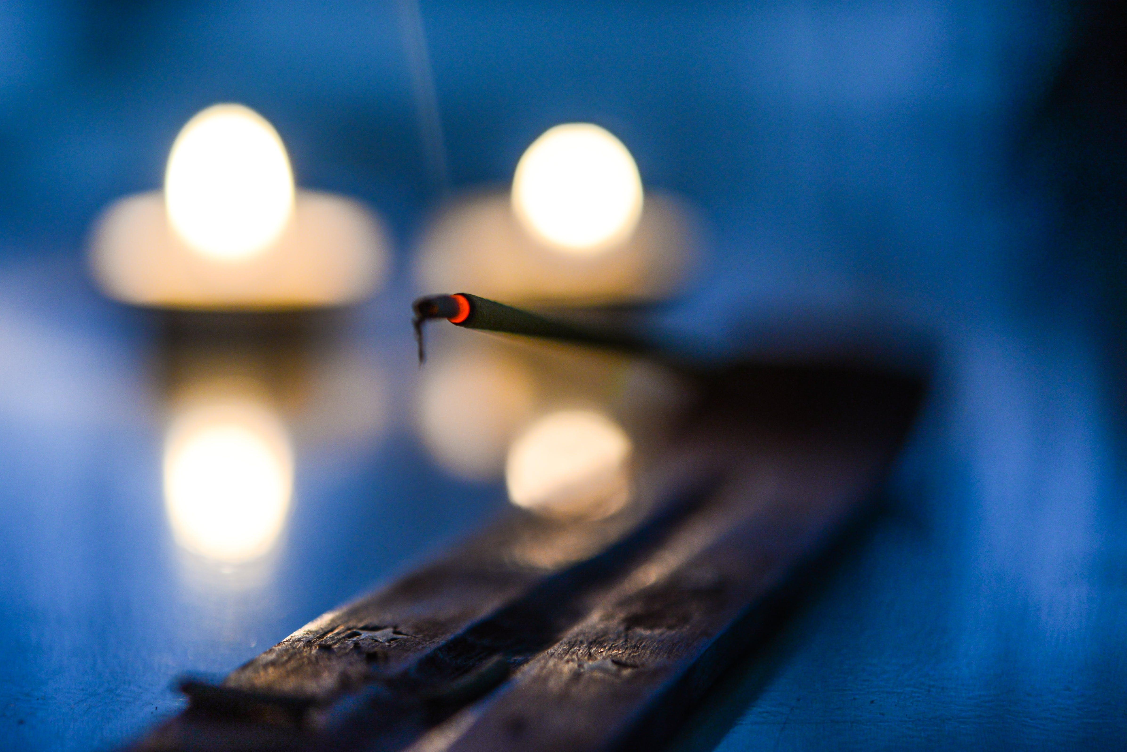 Bokeh Photography of Black Stick