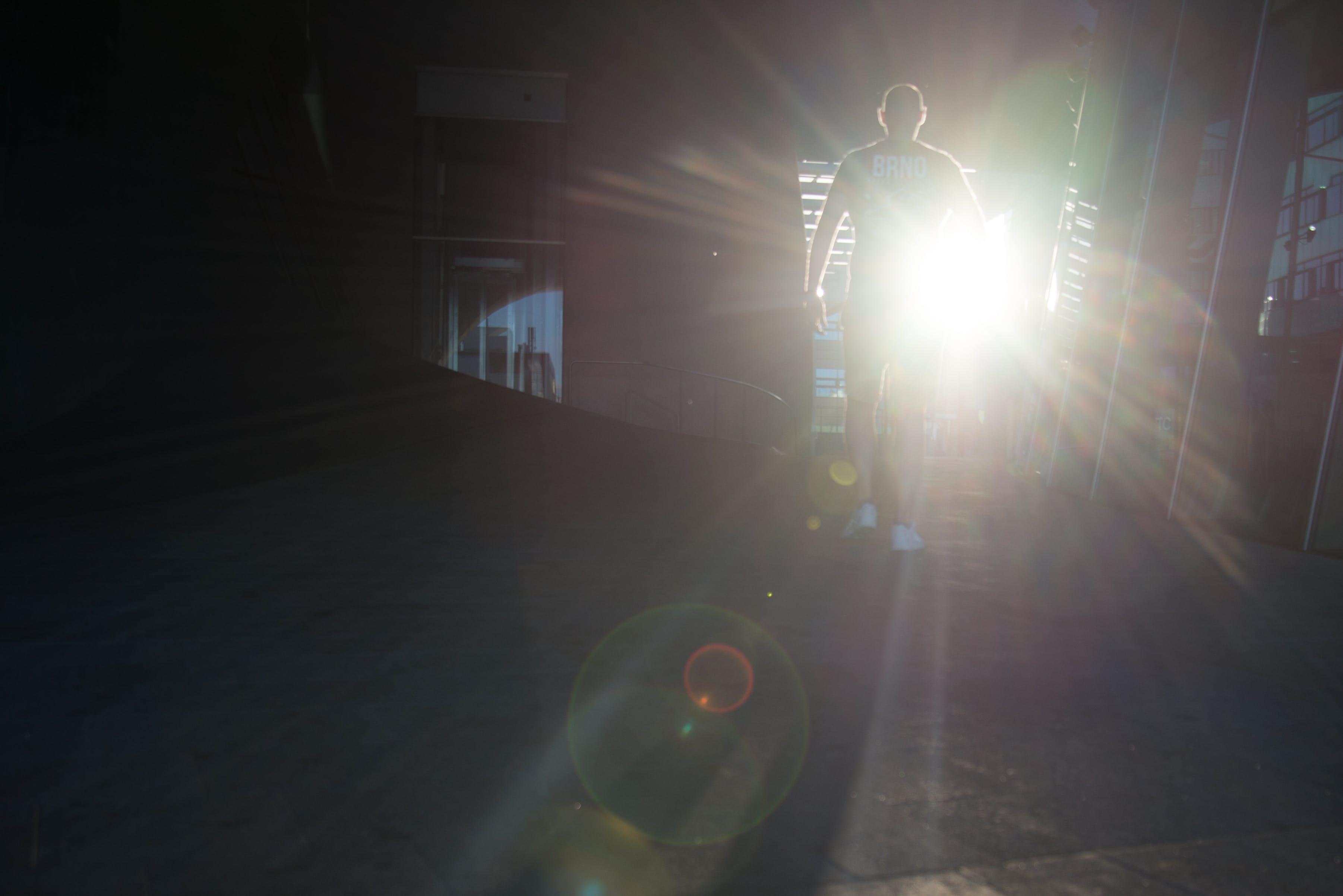 Free stock photo of light, man, walking, sun