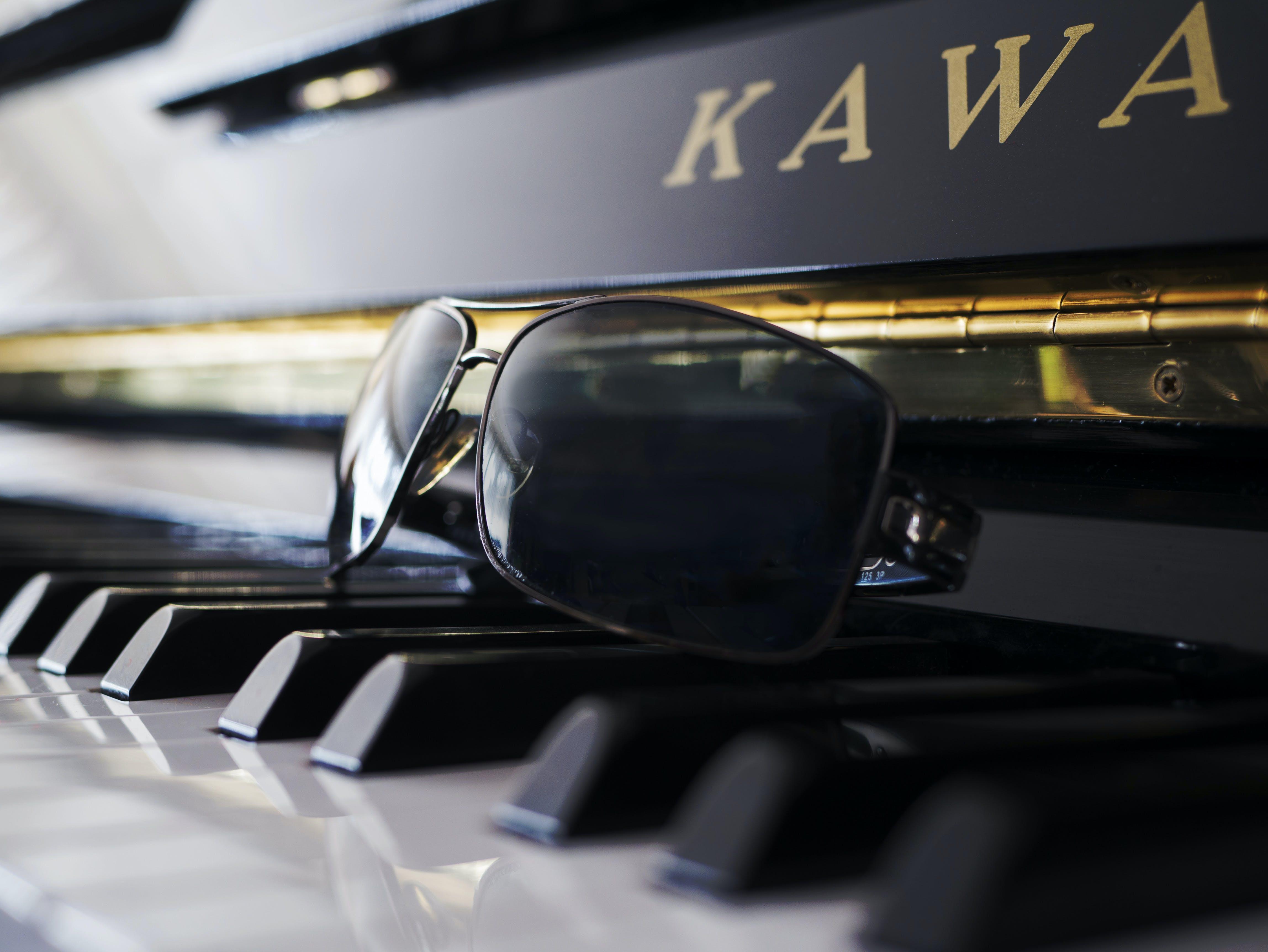 Free stock photo of sunglasses, music, piano, black