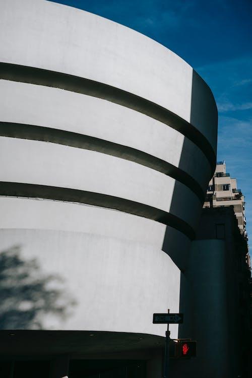 Facade of modern building in city