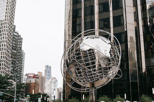 哥倫布圓銀地球儀