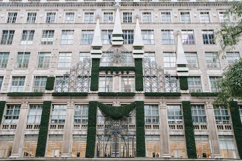 Facade of building with columns