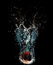 apple, motion, underwater