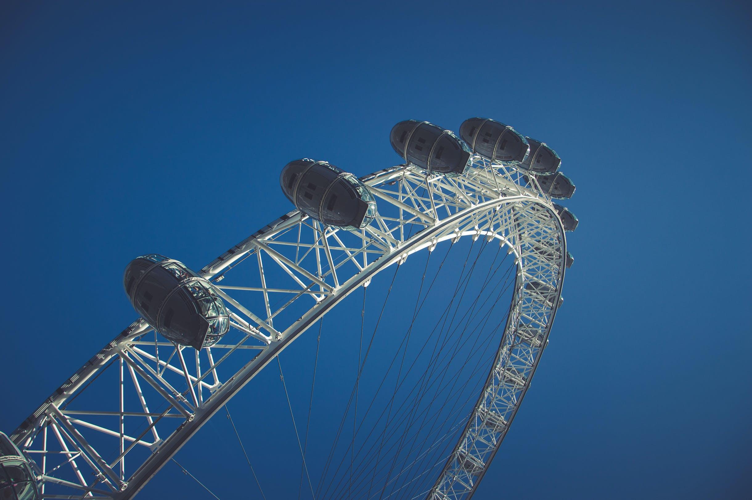 of blue sky, london, london eye