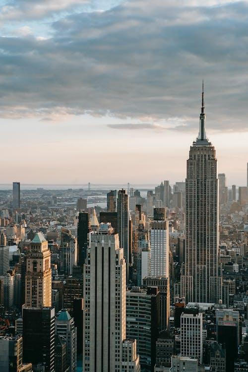 Empire State Building near skyscrapers in USA