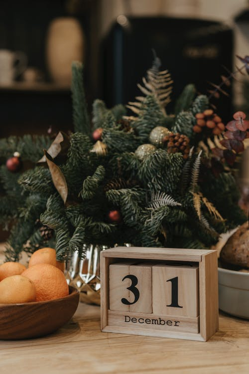 December 31 Calendar And Fruits On Table