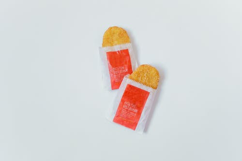 Hash Browns on White Background