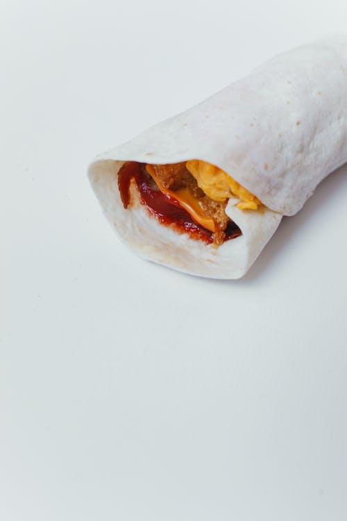 Close Up Shot of a Burrito