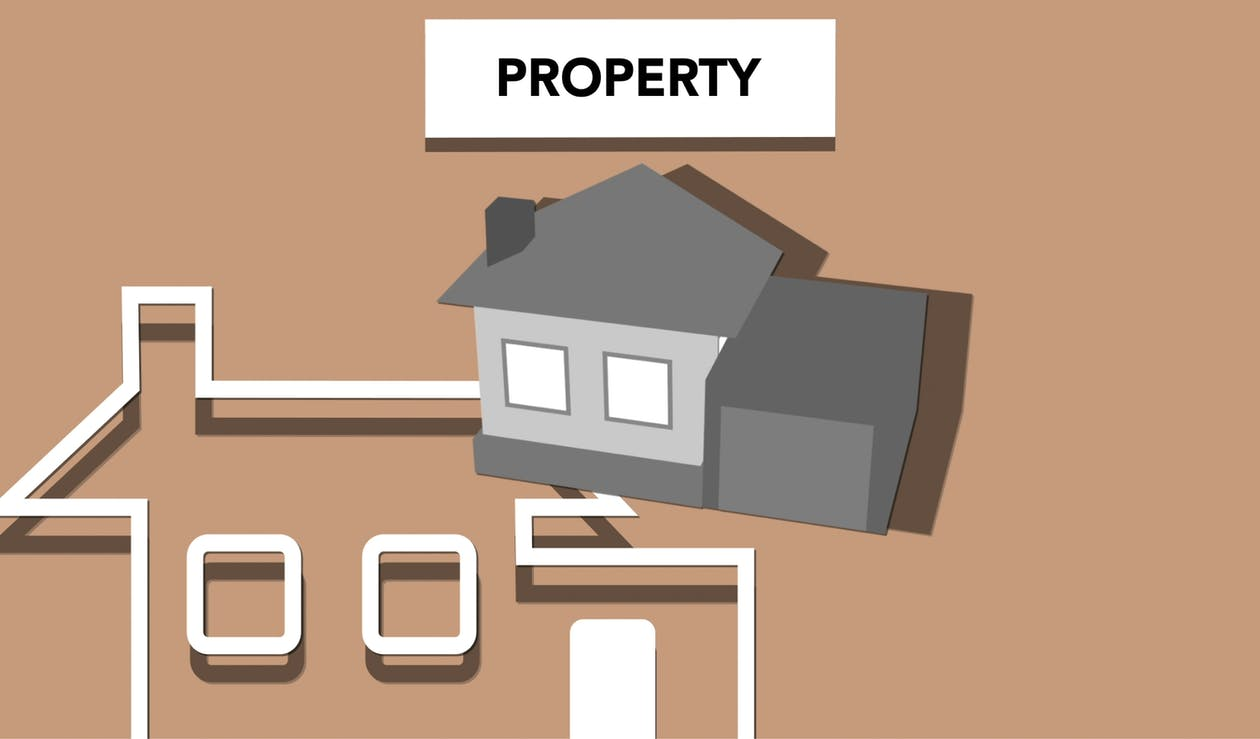 Illustration of house for private property representing concept of investing in purchase of real estate