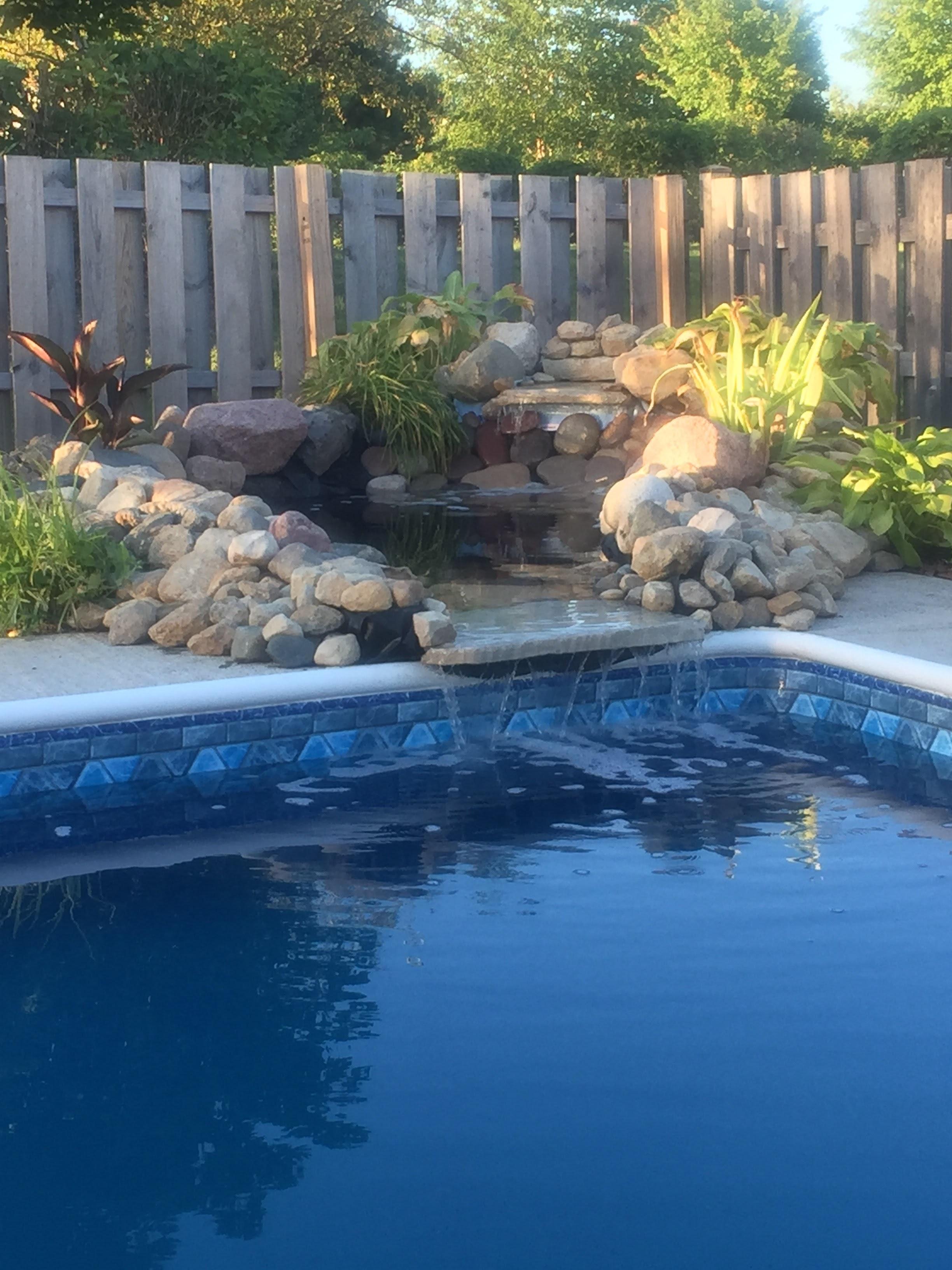 Free Stock Photo Of Diy Pool Waterfall