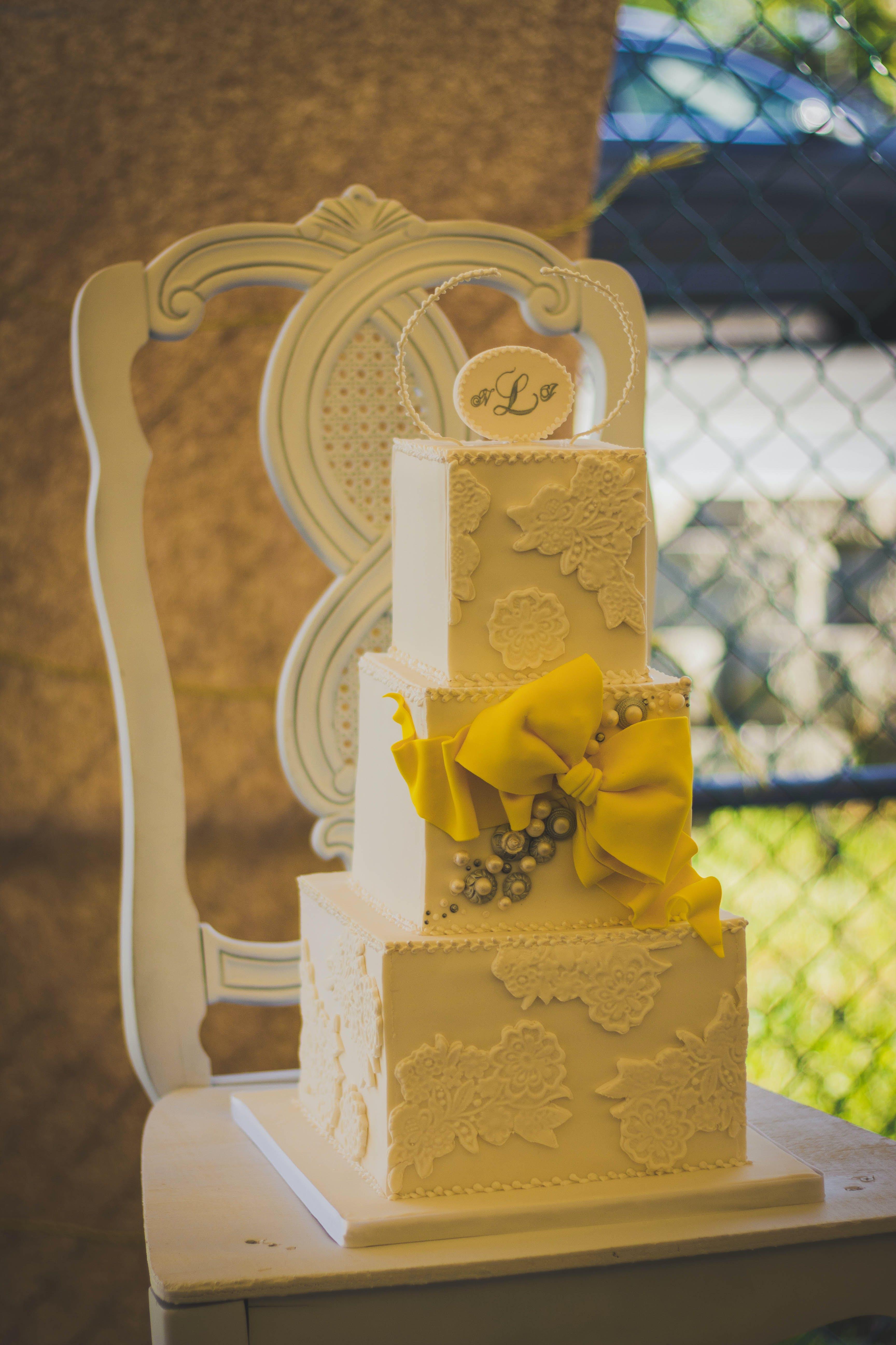 Free stock photo of anniversary, beautiful, Bride and Groom, cake