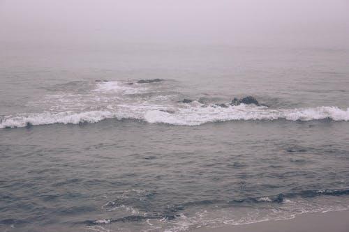 dalga, deniz, deniz manzarası, el sallamak içeren Ücretsiz stok fotoğraf