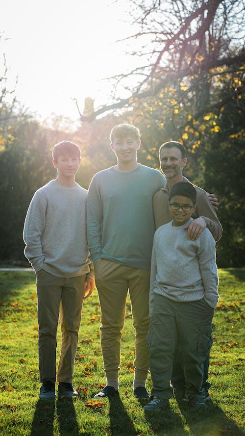 All Boys Family Photo