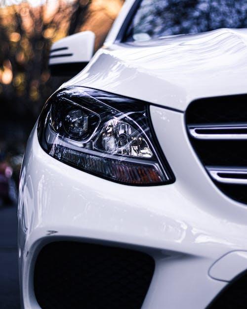 Shiny White Car