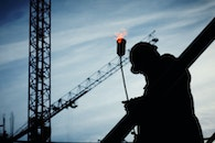 construction, industry, silhouette
