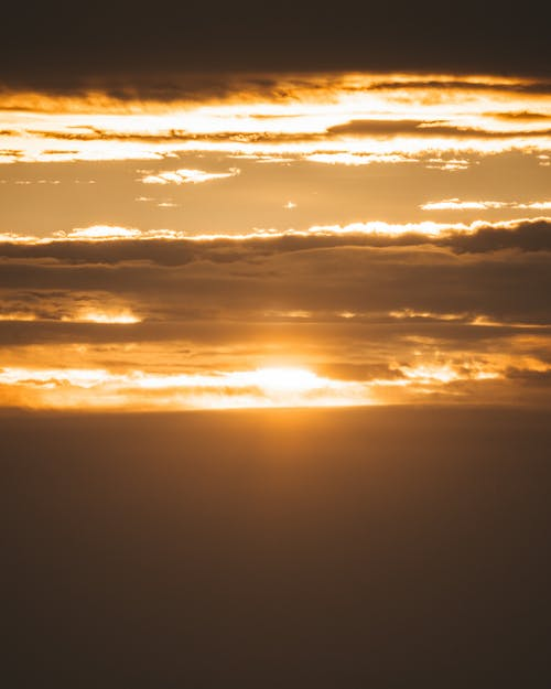 Amazing sunset sky in nature