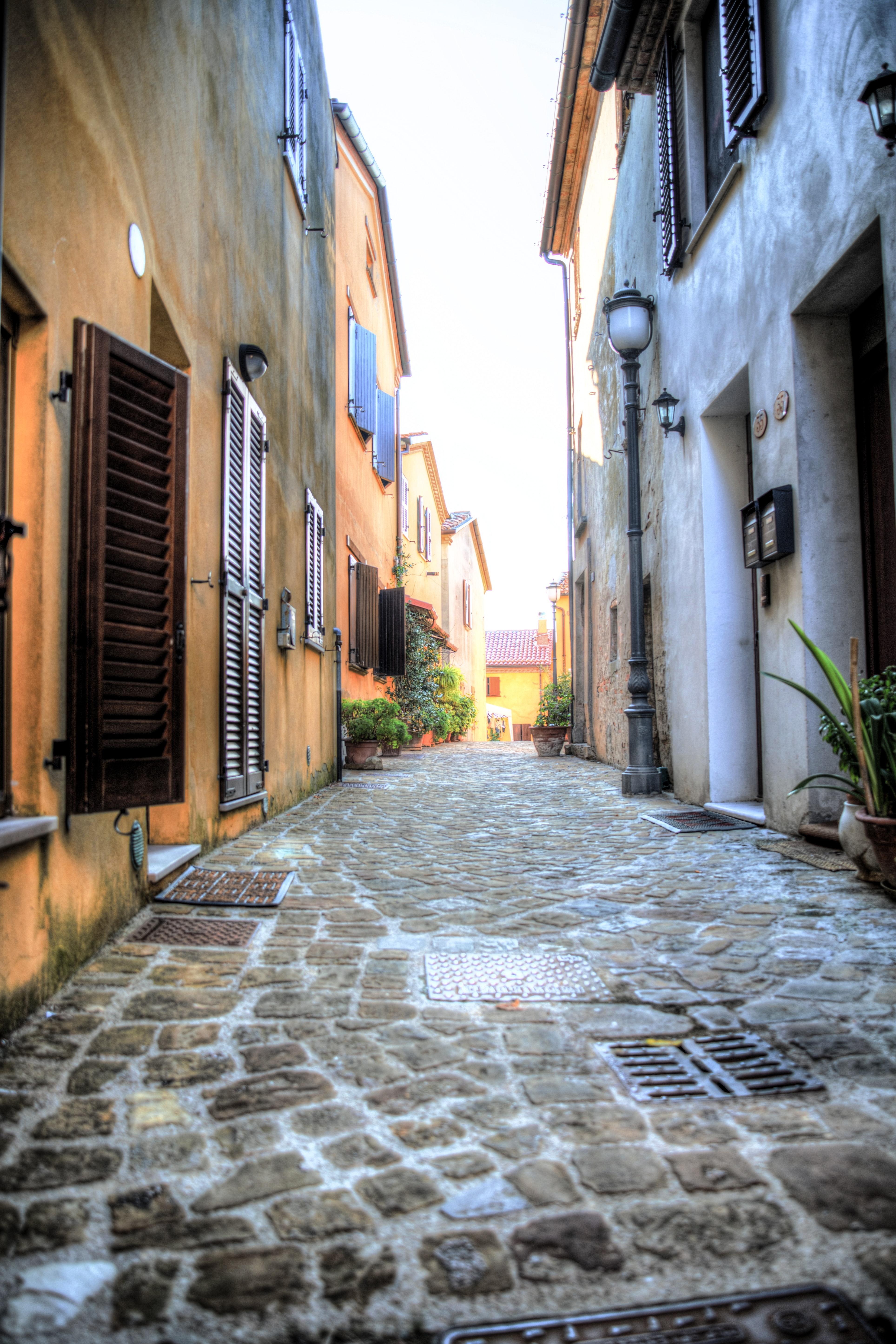 Empty Concrete Alleyway 183 Free Stock Photo