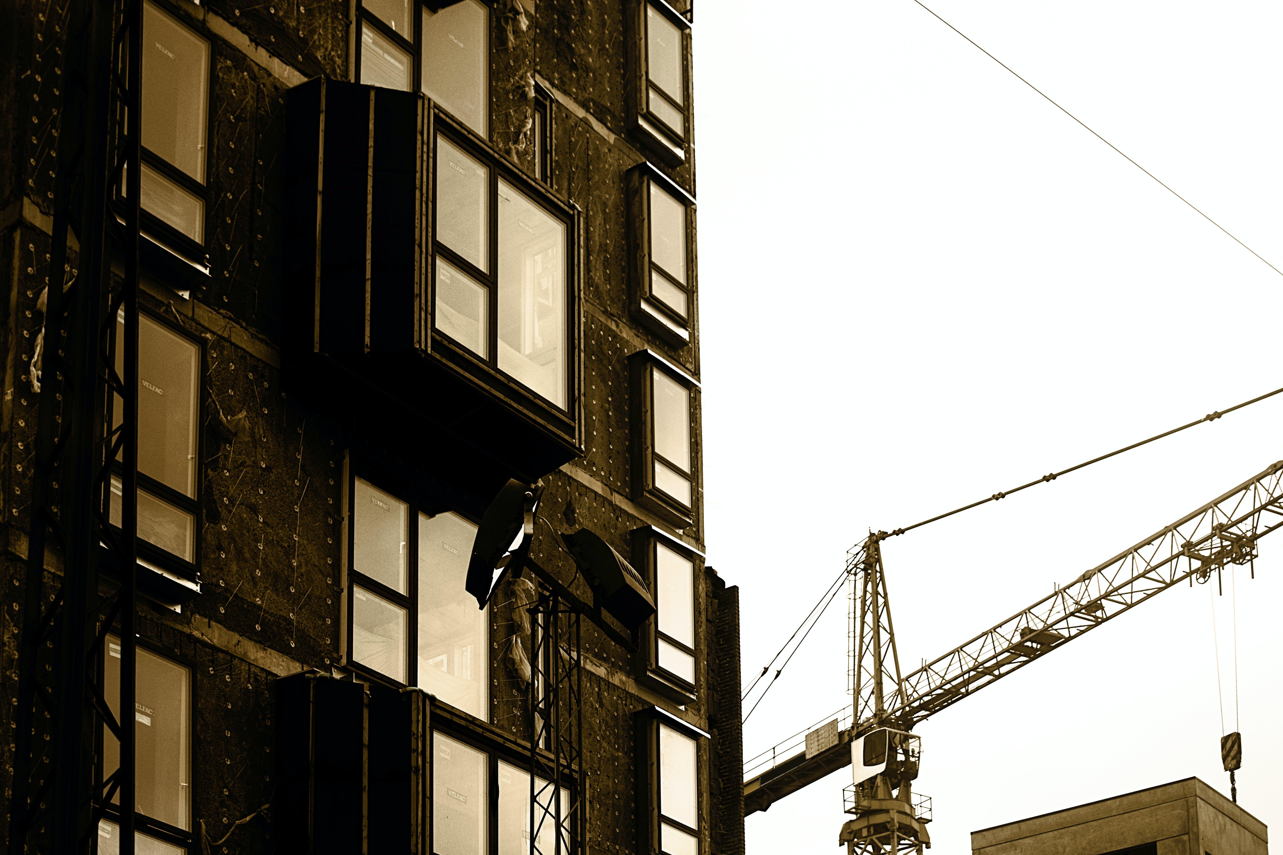 Free stock photo of city, building, crane, architecture
