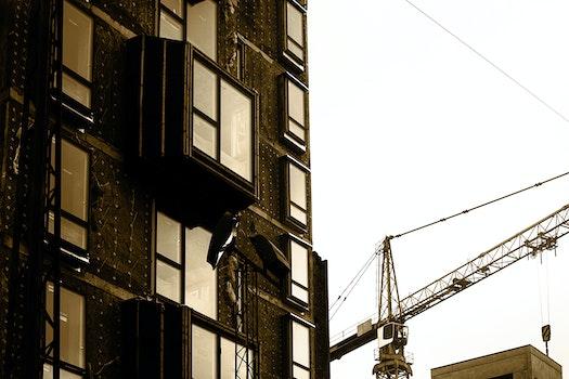Kostenloses Stock Foto zu stadt, gebäude, kran, architektur