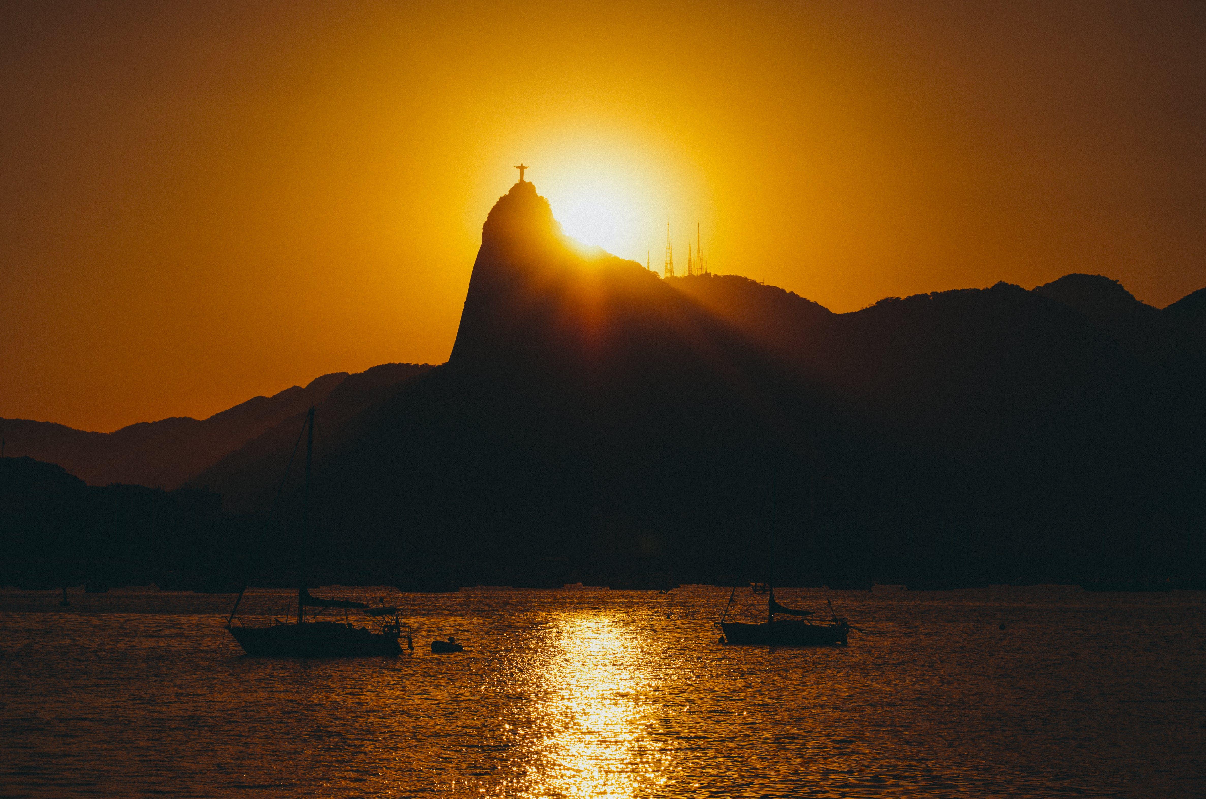 Foto profissional grátis de água, alvorecer, barcos, Brasil