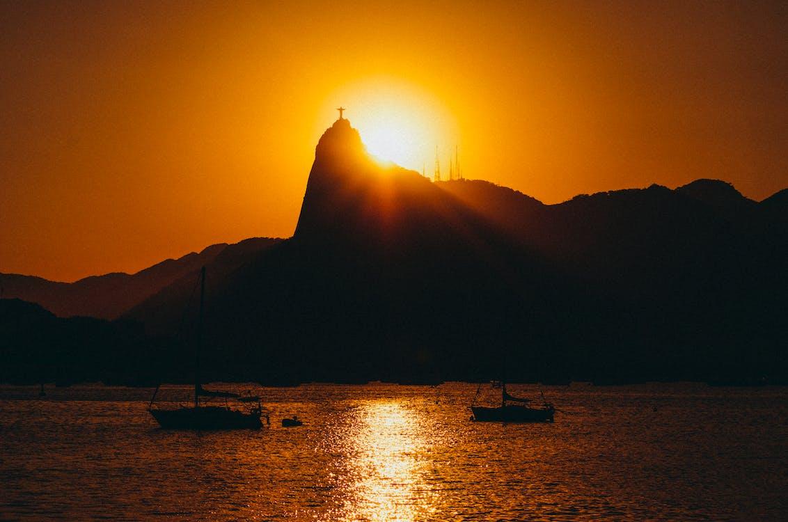 berg, boote, brasilien