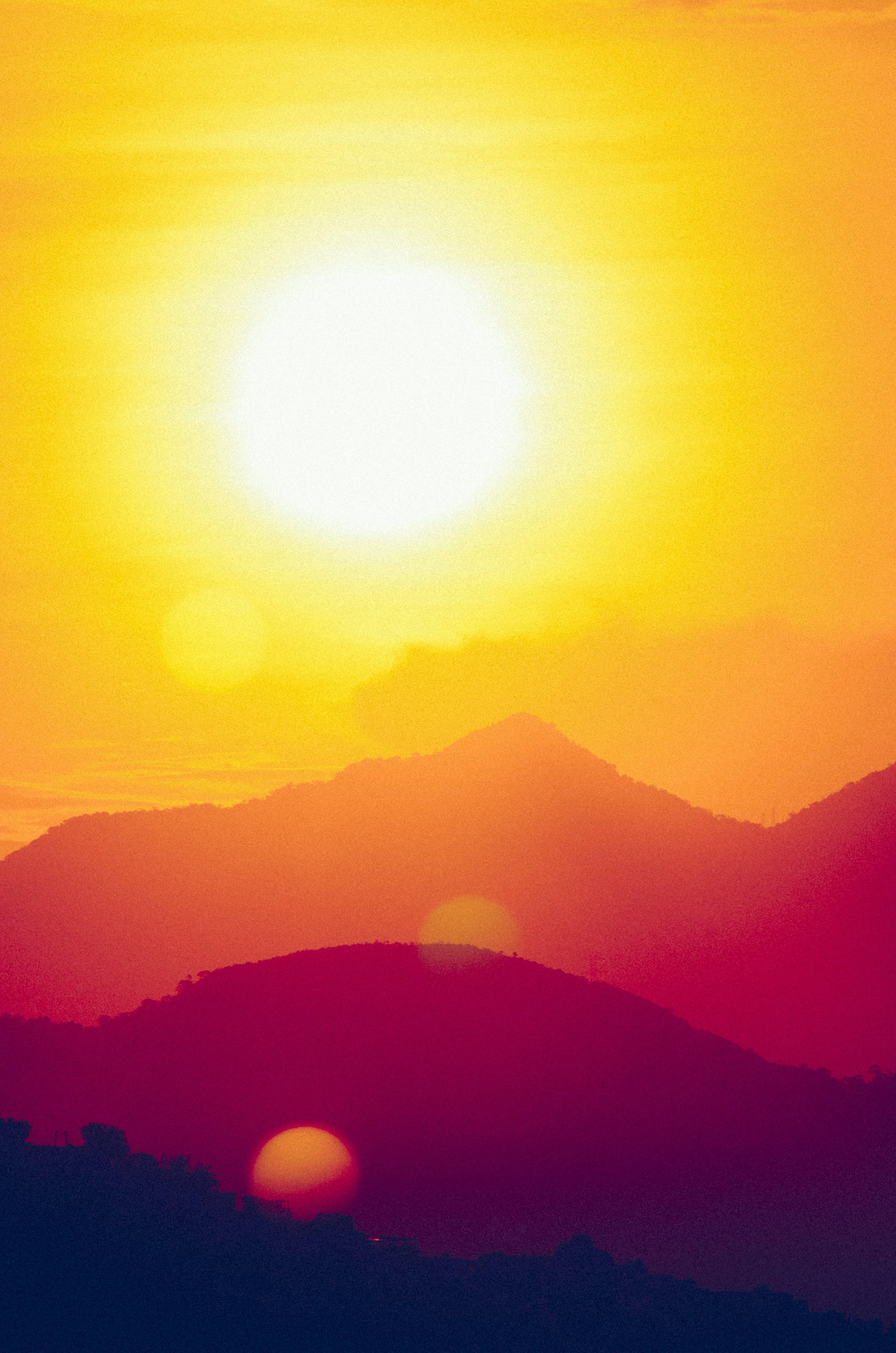Free stock photo of landscape, sunset, golden, golden hour