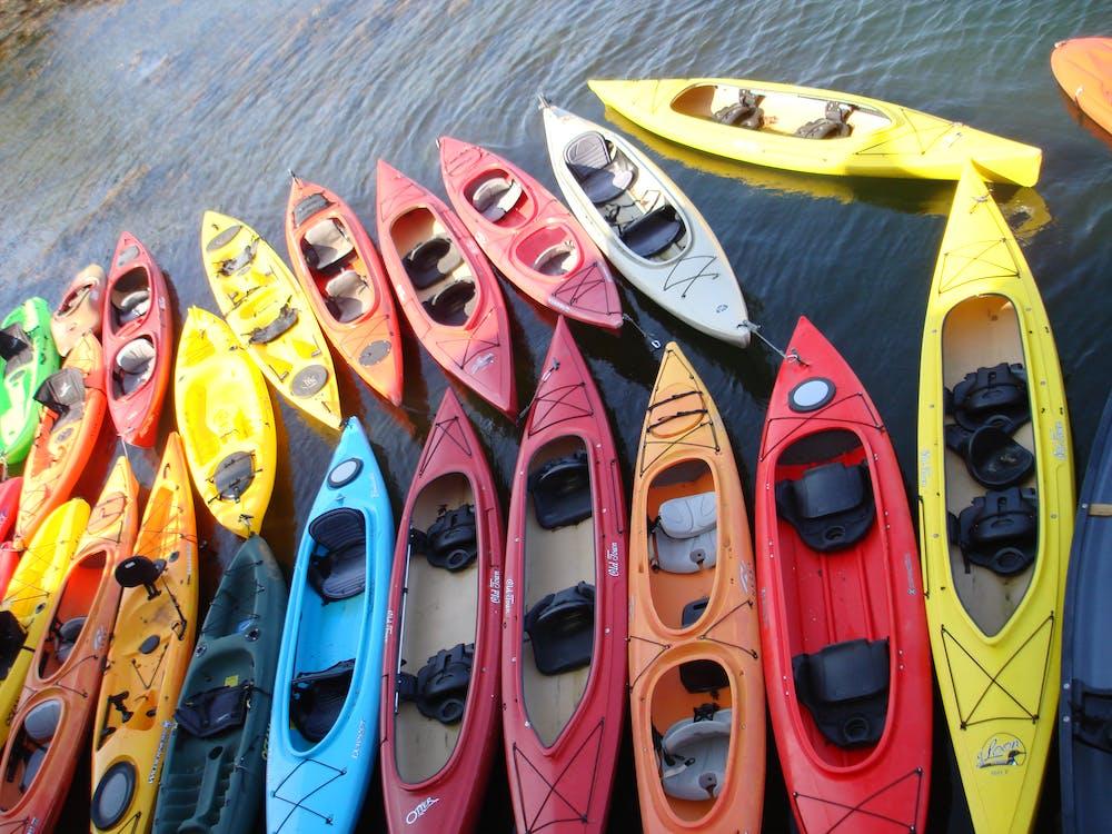 Free stock photo of kayaks, ocean, rockport