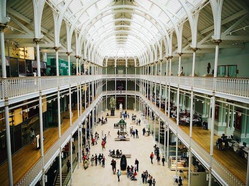 Základová fotografie zdarma na téma architektura, Edinburgh, hala, lidé