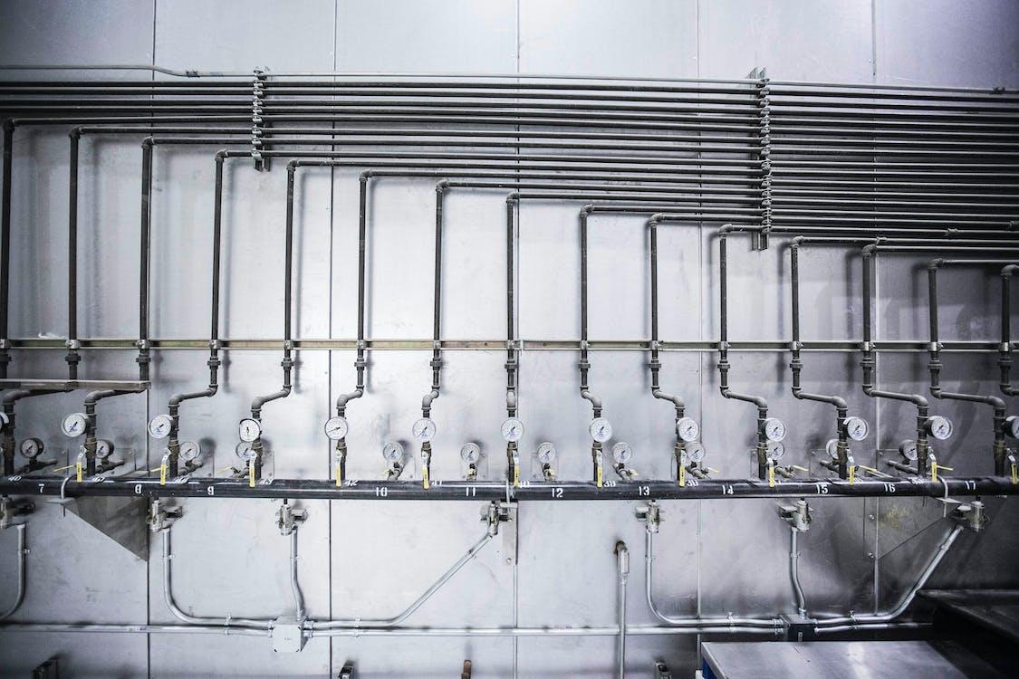 Steel Pipe Lines with Pressure Gauge