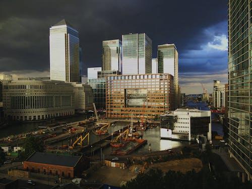 คลังภาพถ่ายฟรี ของ การก่อสร้าง, คานารี วาร์ฟ, ตึก, ตึกสูง