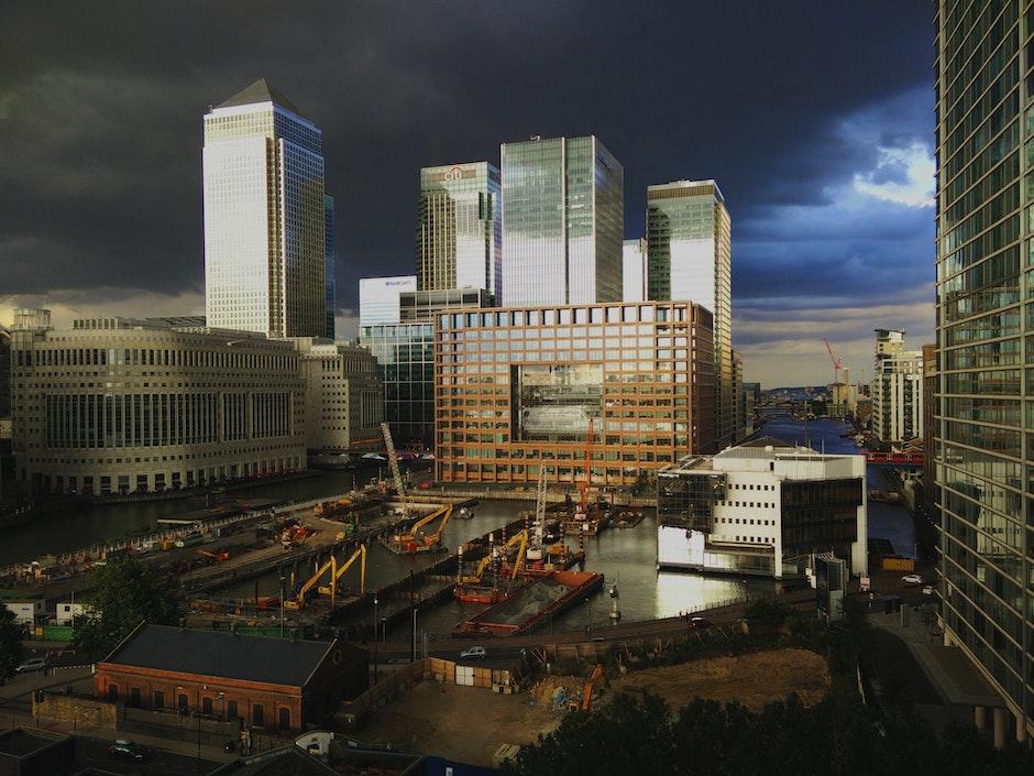 buildings, canary wharf, city