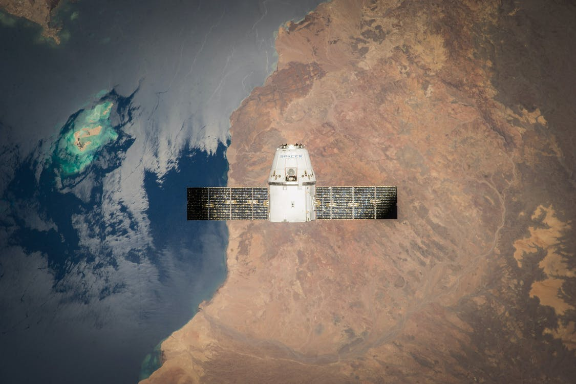 White and Black Satellite