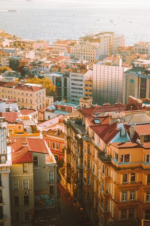 Luftaufnahme Von Stadtgebäuden