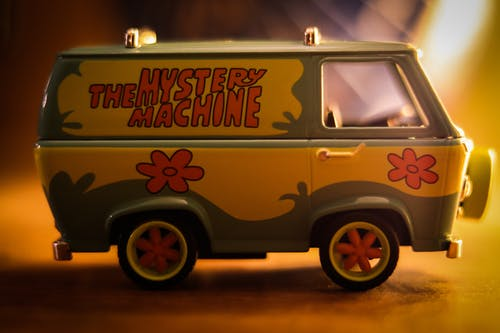 Free stock photo of 90s style, camper van, cartoon, mystery