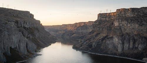 Brown Rocky Mountain Beside River